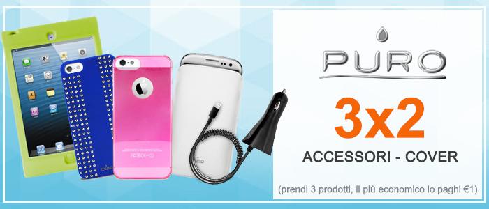 Puro 3X2 Custodie, cover, pellicole e tanti accessori