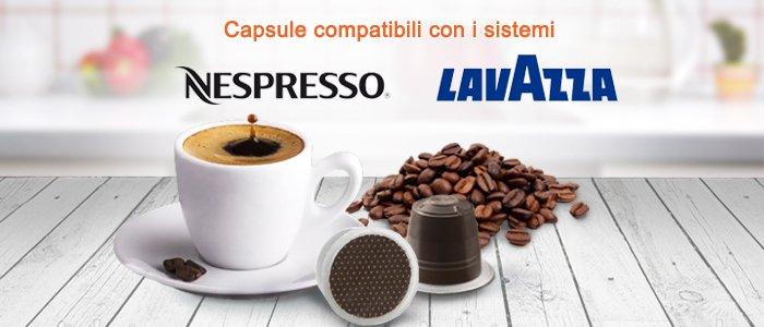 Capsule compatibili Nespresso e Lavazza Espresso Point