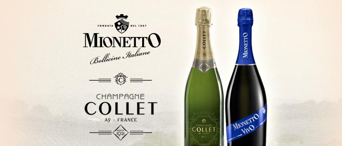 Champagne Collet e Spumante Mionetto