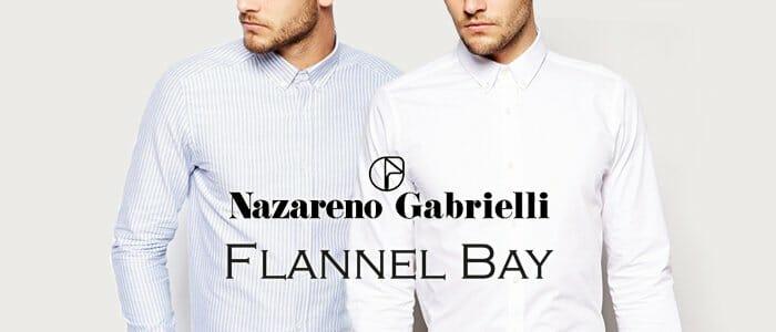 Camicie uomo Flannel Bay e Nazareno Gabrielli