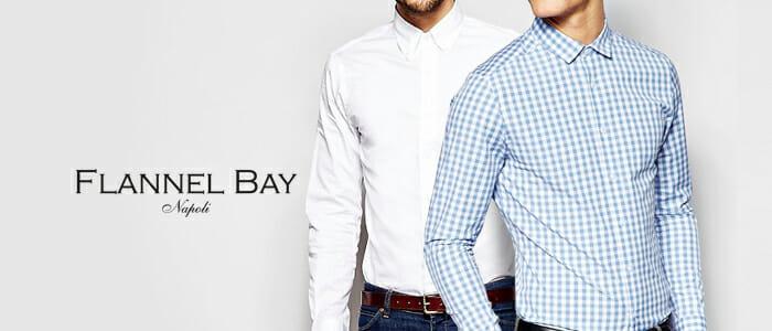Camicie uomo sartoriali Flannel Bay