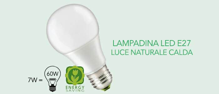Lampadine led e27 luce naturale buy benefit for Lampadine faretti led luce calda