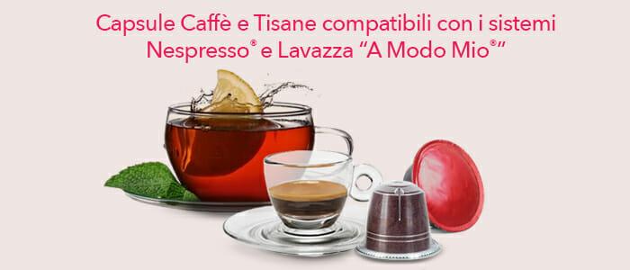 Capsule compatibili A Modo Mio® e Nespresso®