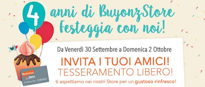 4° Compleanno Buyonz Store Festeggia con noi!
