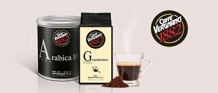 Caffè Vergnano: Arabica e GranaRoma