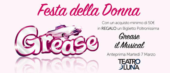 Festa della Donna Regalo Grease Musical