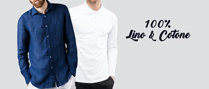 Camicie uomo 100% lino e cotone e Polo Jersey
