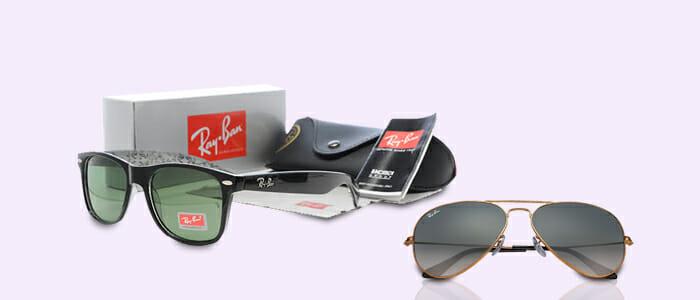 Ray-Ban occhiali da sole: Aviator e Wayfarer