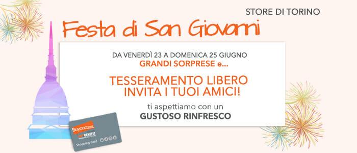 Speciale Festa di San Giovanni Store Torino