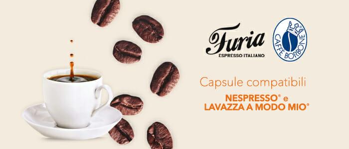 Caffè Borbone e Furia capsule compatibili