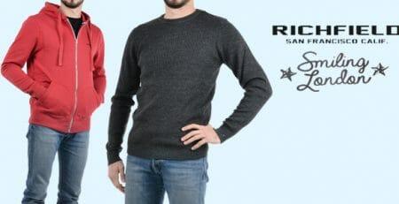 Richfield e Smiling London abbigliamento uomo
