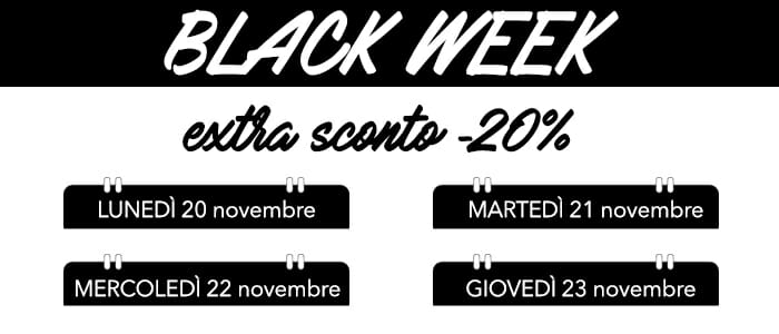 Black Week: imperdibili Extra Sconti