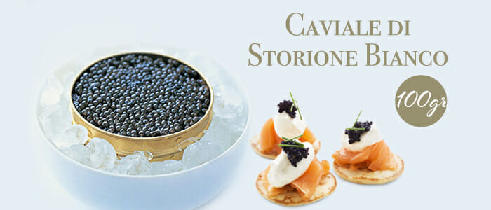 Caviale storione bianco 100gr