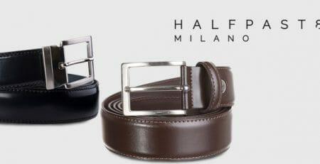 HALFPAST8® cinture in pelle uomo