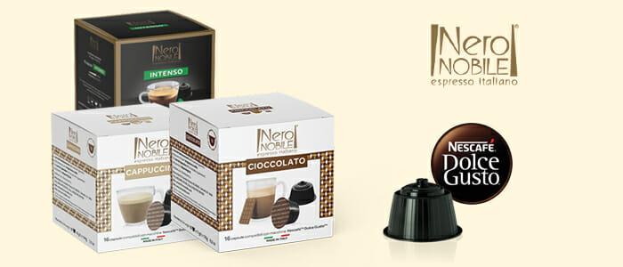 NeroNobile caffè e bevande compatibili Nescafè® Dolce Gusto