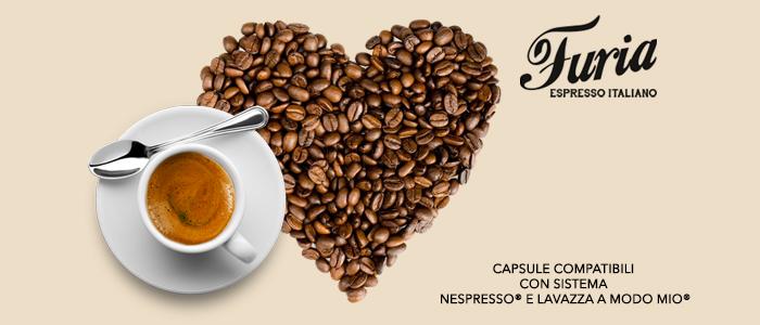 Caffè Furia: capsule compatibili Nespresso e A Modo Mio