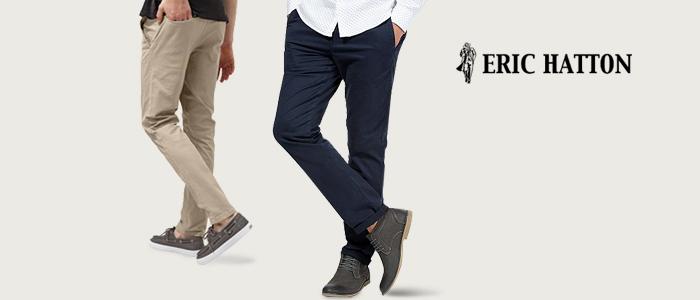 Eric Hatton pantaloni uomo P/E 2018
