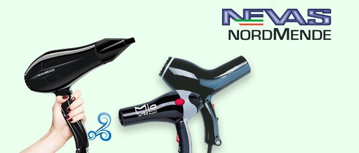 Promozione asciugacapelli Nevas e NordMende