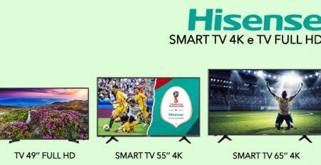 Hisense Smart TV 4K e TV Full HD