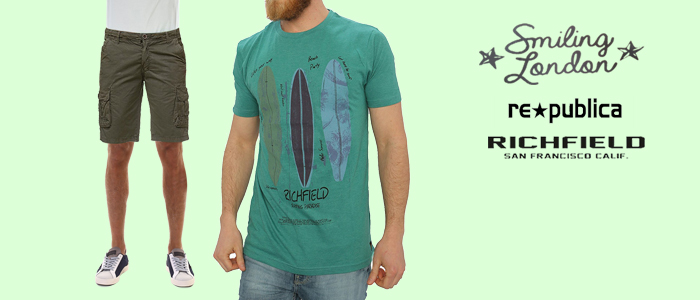 Speciale estate: t-shirt e bermuda uomo