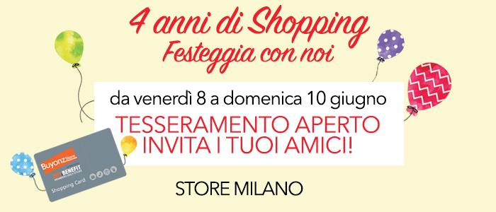 4° Compleanno STORE MILANO, festeggia con noi!