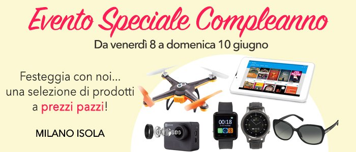Speciale 4° Compleanno Store Milano