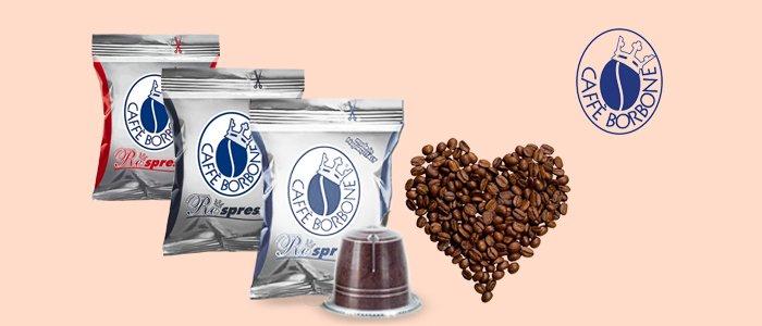 Caffè Borbone: miscela Blu, Rossa e Nera