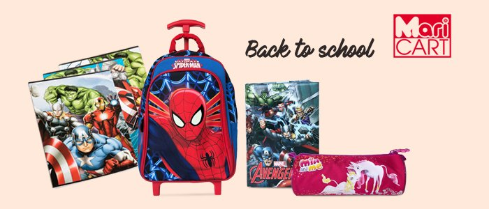 Back to School: zaini, cartelle, astucci e cartoleria