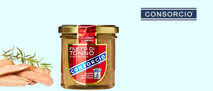 Consorcio: filetti di tonno in olio d'oliva 220gr