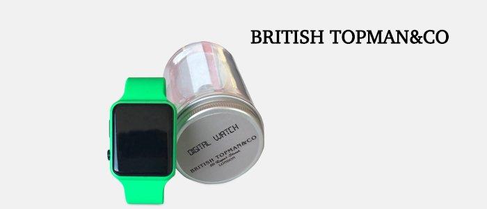 British Topman&Co: digital watch