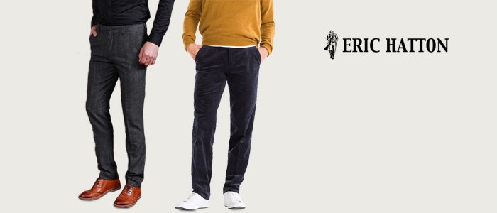 Eric Hatton pantaloni invernali uomo