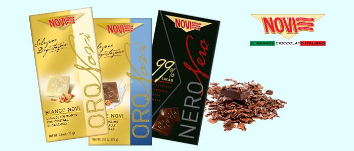 Cioccolato Novi: Oro Novi e Novi Nero