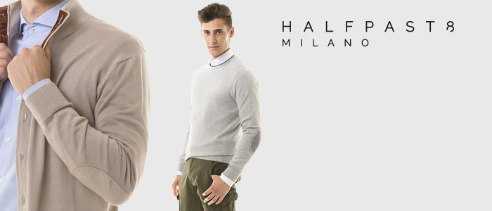 HALFPAST8® maglioni in cotone uomo
