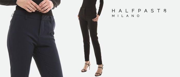 HALFPAST8® pantaloni donna stretch