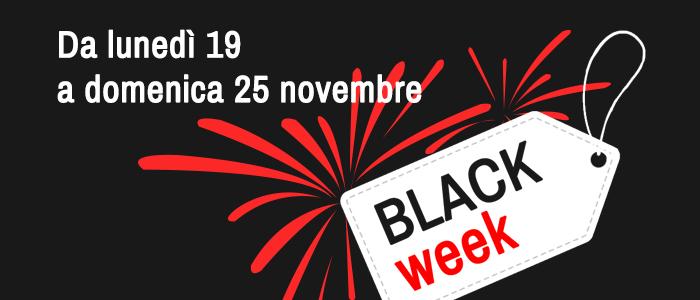Black Week una settimana di offerte