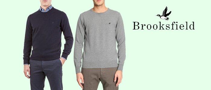 comprare on line 48c49 c16b7 Brooksfield maglie uomo girocollo - Buy&Benefit