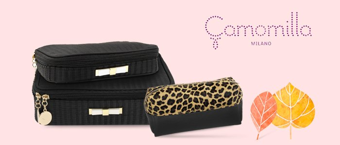 Camomilla Milano: Pochette, Travel Beauty, Vanity Bag e Necessarie