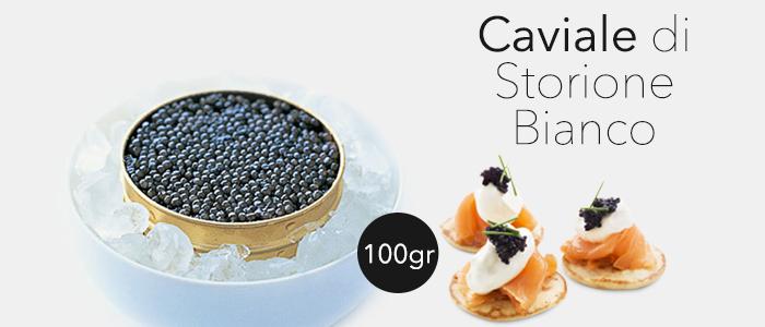 Caviale Calvisius di storione bianco 100gr