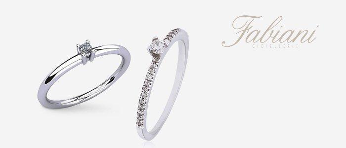Fabiani Gioiellerie: Anelli in Oro Bianco con Diamanti
