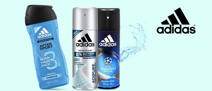 Adidas: Bagnodoccia 3in1 e Deodoranti