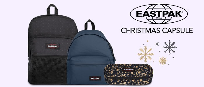 Eastpak Christmas Capsule: zaini e accessori