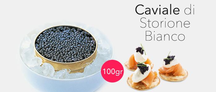 Promozione Caviale di Storione Bianco 100gr