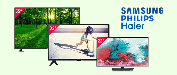 Samsung, Philips e Haier: Smart TV, Full HD e HD Ready