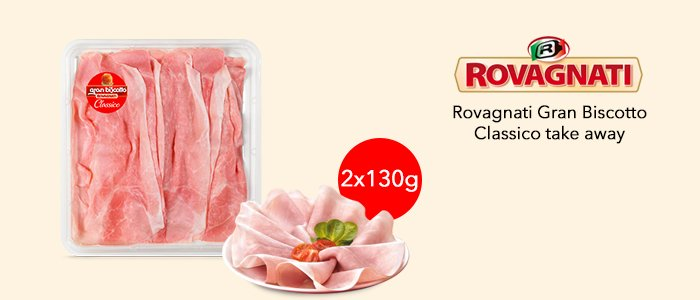 Promozione Rovagnati Gran Biscotto Classico take away 2x130gr