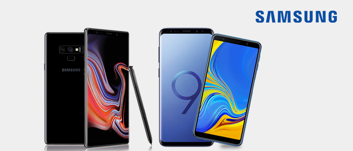 Samsung Galaxy Note9, S9+ e A7