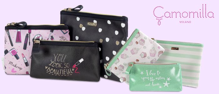 Camomilla: Travel set, set Beauty, Necessaire, Pochette