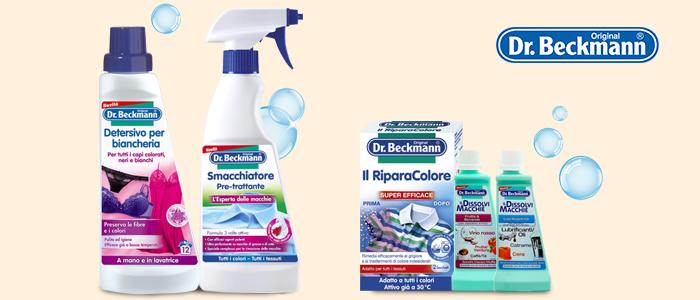 Dr. Beckmann: smacchiatori, cura del bucato, trattamento lavatrice