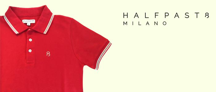 HALFPAST8 Polo Uomo 100% Cotone
