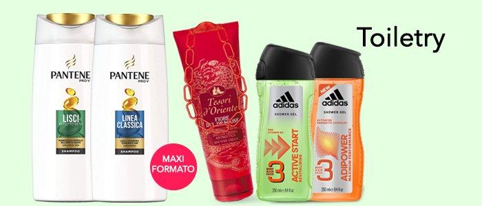 Pantene Shampoo, Tesori d'Oriente Crema Corpo e Adidas Shower Gel