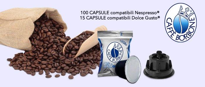 Caffè Borbone: capsule compatibili Dolce Gusto e Nespresso